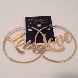 Thalia Sodi Love Large Hoop Earrings Flawed